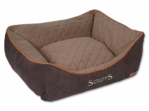 Pelíšek SCRUFFS Thermal Box Bed hnědý S