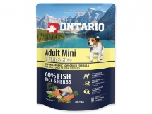 ONTARIO Adult Mini Fish & Rice 0,75 kg