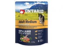 ONTARIO Adult Medium Lamb & Rice 0,75 kg