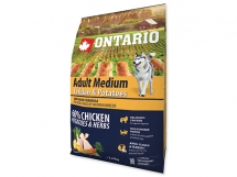 ONTARIO Adult Medium Chicken & Potatoes & Herbs 2,25 kg