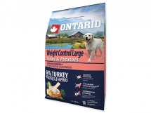 ONTARIO Large Weight Control Turkey & Potatoes & Herbs 2,25 kg