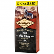 CARNILOVE Lamb & Wild Boar for Dog Adult 12+2 kg