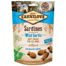 CARNILOVE Dog Semi Moist Snack Sardines enriched with Wild garlic