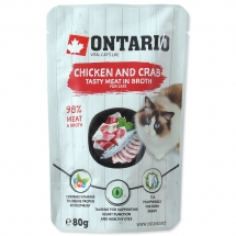 ONTARIO Cat Chicken and Crab in Broth 80g