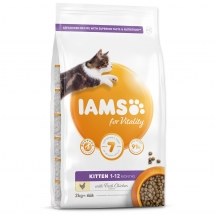 IAMS for Vitality Kitten Food with Fresh Chicken 2 kg