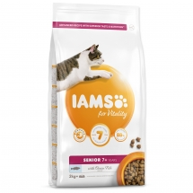 IAMS for Vitality Senior Cat Food with Ocean Fish 2 kg