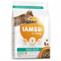 IAMS for Vitality Sterilized Cat Food with Fresh Chicken 1,5 kg